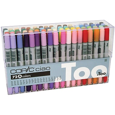 Copic Marker Permanent Marker, Assorted, 72/Pack