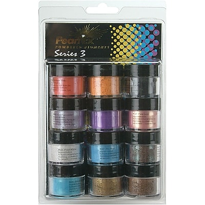 Jacquard 3 Gram Pearl EX Series 3 Powdered Pigments, 12/Pack