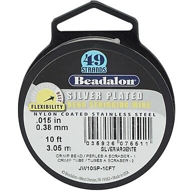 Beadalon JW10SP 49-Strand Silver Plated Bead Stringing Wire, 10'