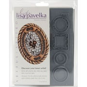 "Lisa Pavelka 4 1/4"" x 5 1/2"" Stamp Set, Artful"