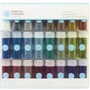 Martha Stewart 0.37 oz. Rich Essentials Glitter Set, Vivid Tinsel, 24/Pack