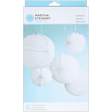 Martha Stewart Doily Lace Lanterns Kit, White Accordian, 6/Pack