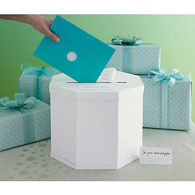 Martha Stewart Celebrate Decor Eyelet Gift Card Box, White