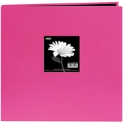 "Pioneer® 8"" x 8"" Book Cloth Cover Postbound Album With Window, Bright Pink"
