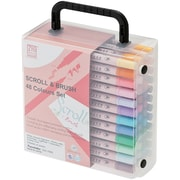 Zig® Memory System Scroll & Brush Markers Set, 48/Pack