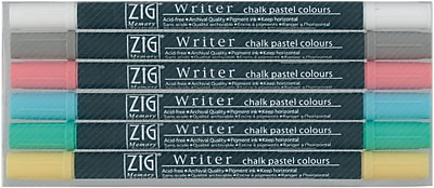 Zig Twin Tip Point Pastel Marker, Assorted, 6/Pack