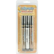 Yasutomo Chisel Point Calligraphy Marker, Assorted, 3/Pack
