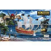 "Puzzles® 15.7"" x 4.7"" x 13.9"" 3D Jigsaw Puzzle, ""Pirate Ship"""