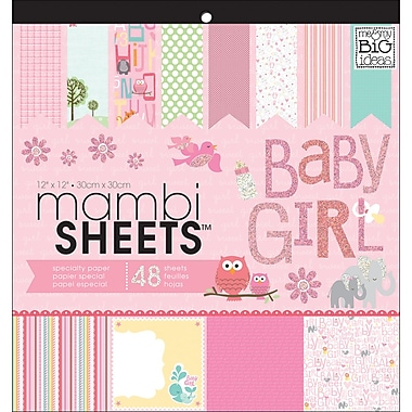 MAMBI® Baby Girl Animals Specialty Cardstock, 12