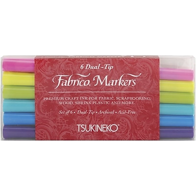 Tsukineko® Fabrico® 6 Piece Gemstones Dual Tip Markers Set