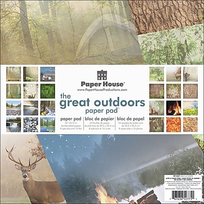 Paper House Great Outdoors Double Sided Paper Pad, 12