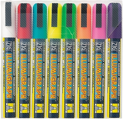 Zig Bold Point Wet-Erase Marker, Assorted, 8/Pack