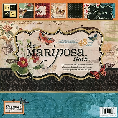Diecuts With A View® Mariposa Paper Stack, 12