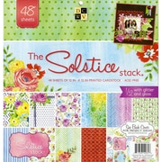 """Diecuts With A View® Solstice Paper Stack, 12"""" x 12"""", 48/Pack"""