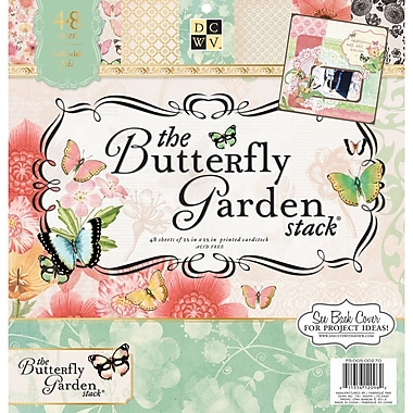 Diecuts With A View® Butterfly Garden Paper Stack, 12