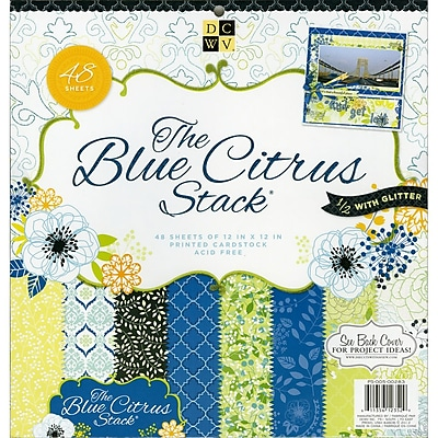 Diecuts With A View® Blue Citrus Paper Stack, 12