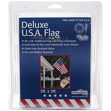 Independence Flag Nylon Deluxe U.S. Flag, 3' x 5'