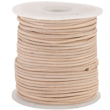 Silver Creek® Round 1mm 25yd Leather Lace, Natural