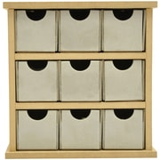 "Kaisercraft Beyond The Page MDF 5 3/4"" x 6"" x 2 1/4"" Mini Drawers, Beige"