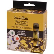 Speedball Art Products SB3476 Multicolor Block Oil-Based Printing Ink, 1.25 oz., 6/Pack