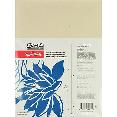 Speedball Art Products SB4324 Beige Fine Printmaking Paper, 12