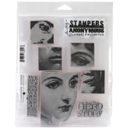 """Stampers Anonymous Tim Holtz 7"""" x 8 1/2"""" Cling Stamp Set, Classics #5"""