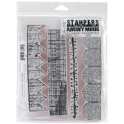"""Stampers Anonymous Tim Holtz 7"""" x 8 1/2"""" Cling Stamp Set, Classics #6"""