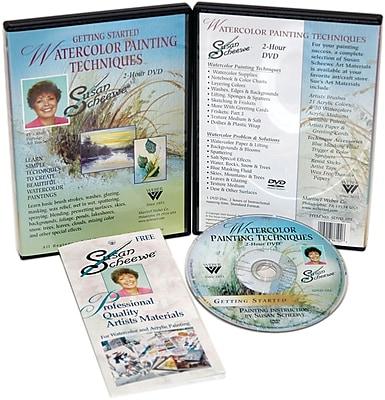 Martin/ F. Weber® Susan Scheewe 2-Hour Paint Training DVD, Watercolor Techniques