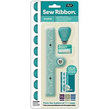We R Memory Keepers Sew Ribbon Tool & Stencil, Scallop