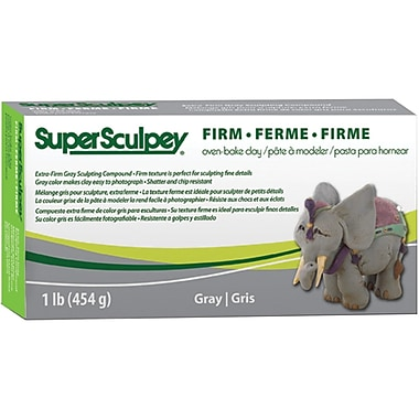 Polyform® Super Sculpey® Firm Oven Bake Clay, Gray