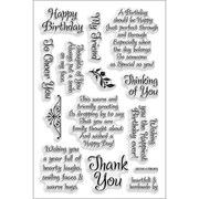 "Stampendous® 4"" x 6"" Perfectly Clear Stamp, Friendly Phrase"