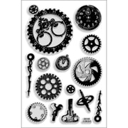 "Stampendous® 4"" x 6"" Perfectly Clear Stamp, Steampunk Gears"