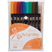 Tombow Jewel Twin Tip Point Water-Based Marker, Assorted, 10/Pack