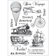 """Technique Tuesday® 4"""" x 6"""" Clear Stamp, All Aboard"""