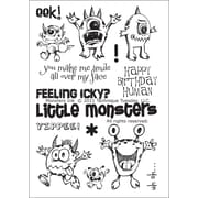 """Technique Tuesday® 4"""" x 6"""" Clear Stamp, Monsters Ink"""