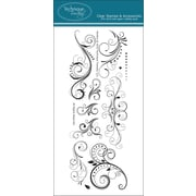 """Technique Tuesday® 3"""" x 8"""" Clear Stamp, Fanfare"""