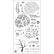 """Technique Tuesday® 3"""" x 8"""" Clear Stamp, Tree-Mendous"""