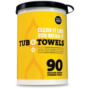 "Federal Process TW90 Tub O Towel Wipes, 12"" x 10""Dia., 90/Pack"
