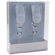 "Darice® Bride Groom 8"" Twisted Champagne Glasses"