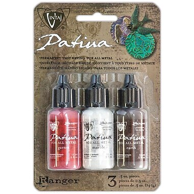 Ranger Vintaj Painted Barn Patina Kit, Garnet/Marble/Earth