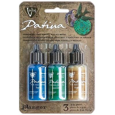 Ranger Vintaj Faded Pickup Patina Kit, Lapis/Emerald/Topaz