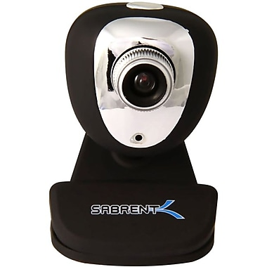 Sabrent SBT-WCCK USB Webcam With Microphone, 352 x 288, Black/Silver