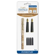 Staedtler Calligraphy Pen Set, Fine/Broad Nib, Marble Assorted