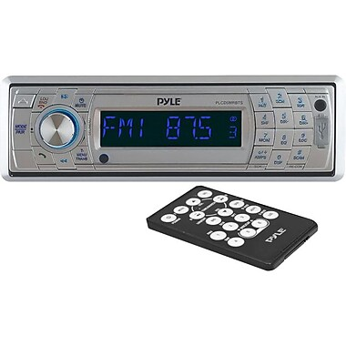 Pyle PLCD5MRBTS AM/FM Marine In-Dash Fold Down Detachable Face Radio