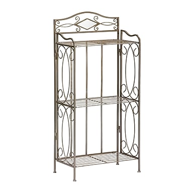 SEI Gunmetal Reflections 3 Tier Rack