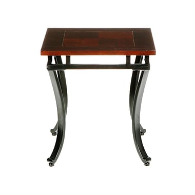 SEI Modesto Metal End Table, Espresso, Each (CK6422R)