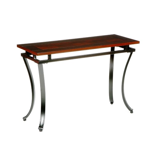 "SEI 28""x42""x16"" Metal Modesto Sofa Table, Espresso"