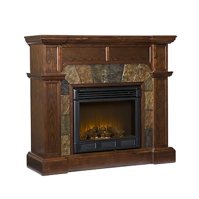 SEI Cartwright Electric Fireplace, Classic Espresso