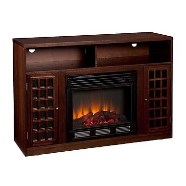 SEI Narita Media Electric Fireplace, Espresso