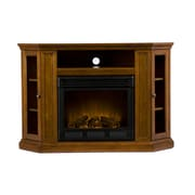 SEI Claremont Convertible Media Electric Fireplace, Mahogany